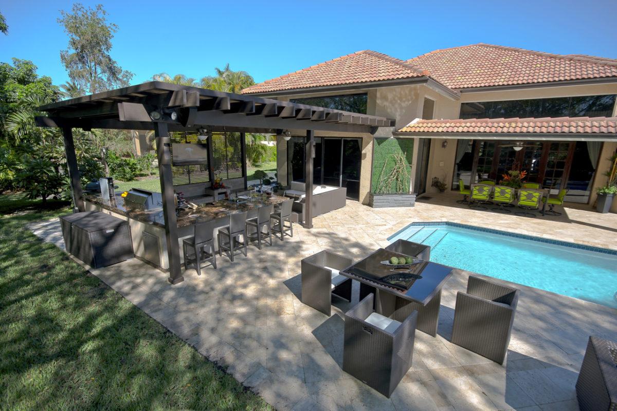 Custom pergolas miami fort lauderdale luxury pergolas - Gazebo pergola designs dream spot ...