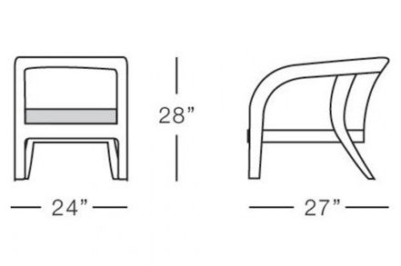 Corsica dining chair form