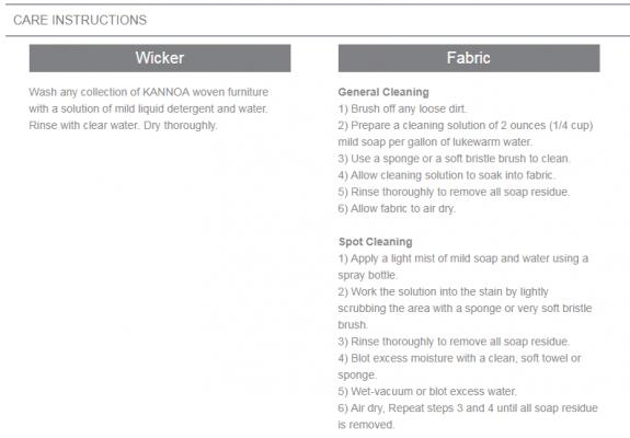 aria materials care instructions