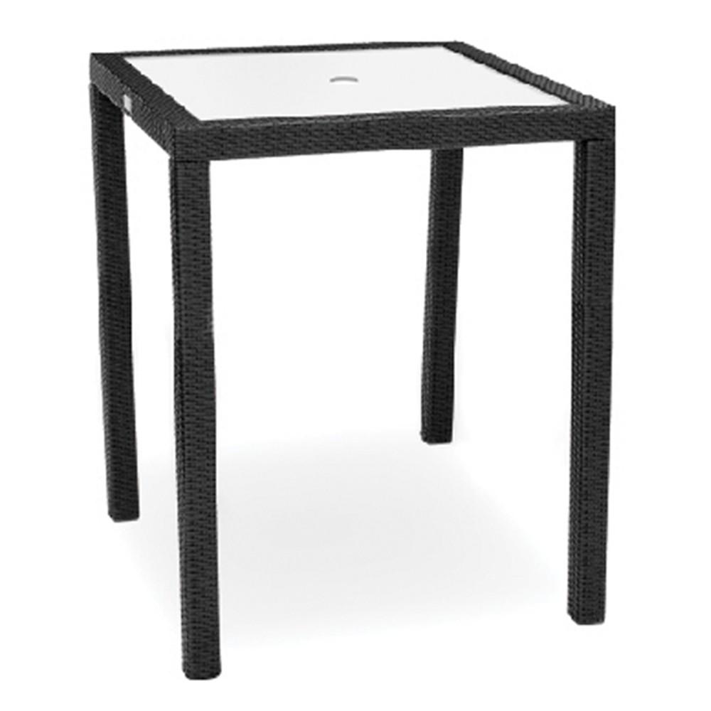 kannoa aria bar table tempered glass top