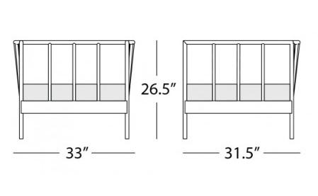 oslo armchair form