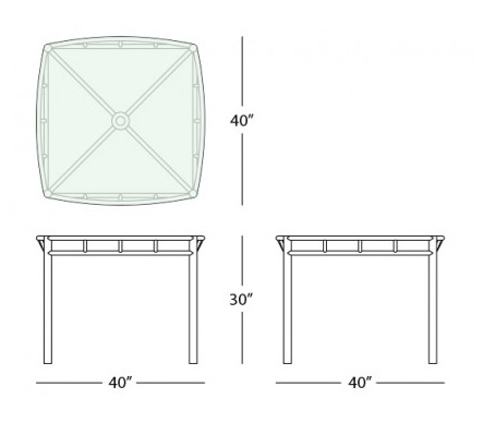 oslo square dining table form
