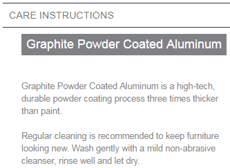 powder coated aluminum care instructions