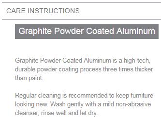 powder coated aluminum care instructions