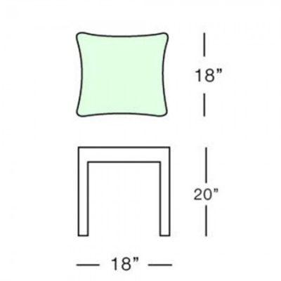 south beach side table form