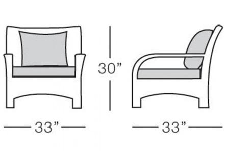 terraza armchair form