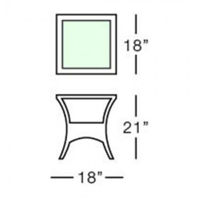 terraza side table form