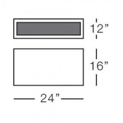 urban small rectangular pot form