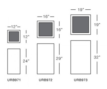 urban square pot series form