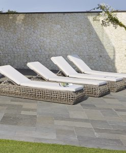 Dynasty chaise loungers set 2