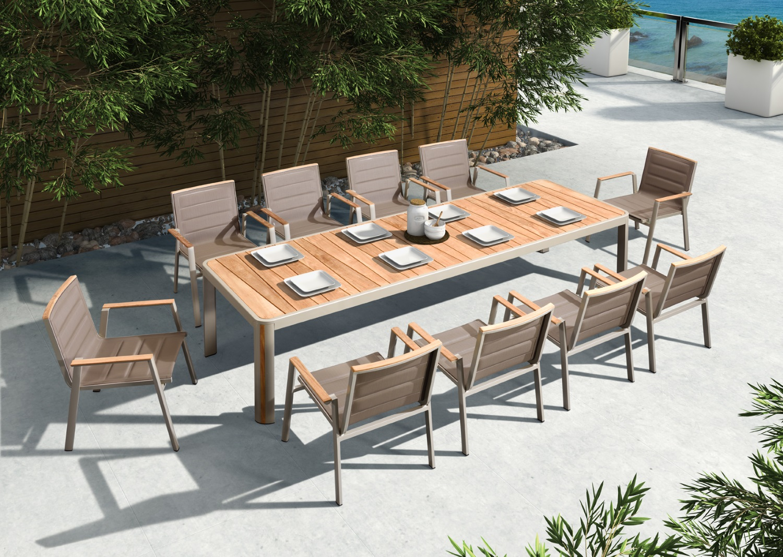 Cool Indosoul Geneva 110 Large Dining Table With Umbrella Hole Home Interior And Landscaping Palasignezvosmurscom