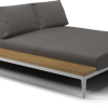 Gloster- grid- left : right- chill chaise white