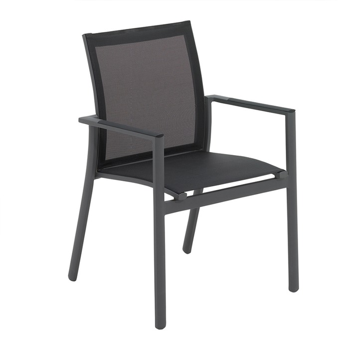 Gloster Azore Stacking Chair With Arms The Patio District