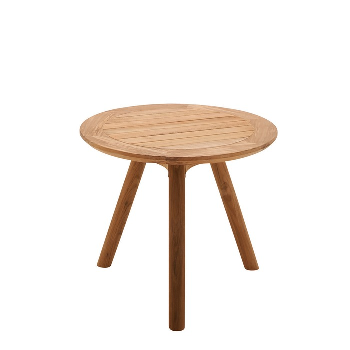 Side Table Teak.Gloster Dansk Round Side Table Teak Top