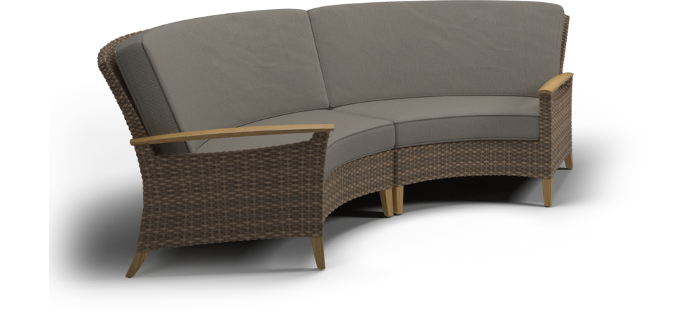 Gloster Pepper Marsh Curved Sofa