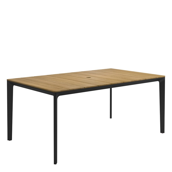 Gloster Carver Carver Small Rectangular Table Teak Top The Patio - Small oblong coffee table