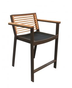 st lucia counter arm chair