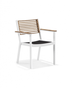 st lucia dining arm chair white