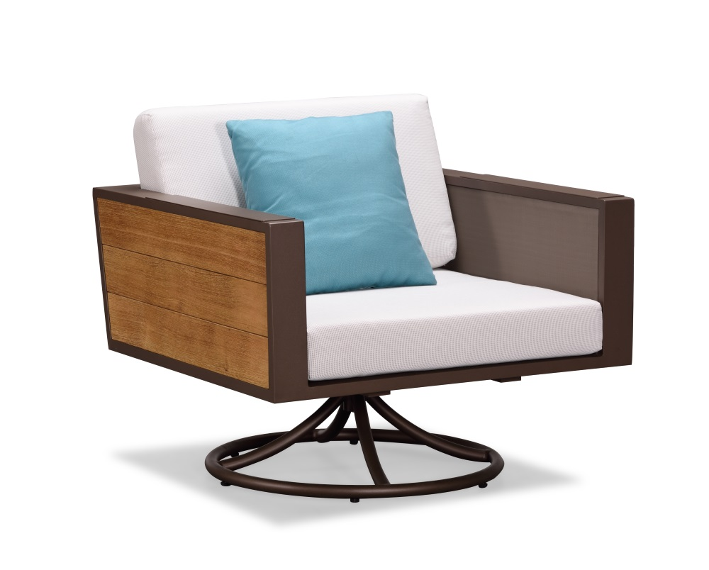 Indosoul St Lucia Swivel Rocker Club Chair The Patio