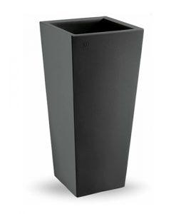 cachepot square genesis - black